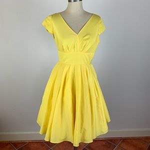 Ted Baker London Yellow Tulle Dress